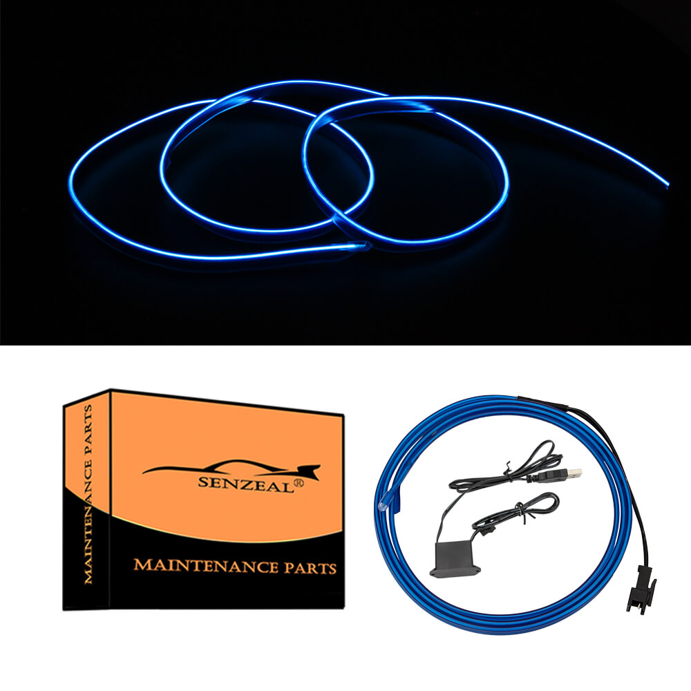 Highlander 2015-2020 1M/39Inch Car LED Strip Light, Neon Panel Gap String Strip Light Interior Decor Atmosphere Strip Lamp PVC Glowing Wire Lamp
