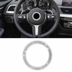 BMW Steering Wheel Crystal Decoration Silver