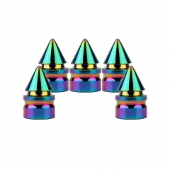 Aluminum Alloy Spike Car Valve Caps 5PCS