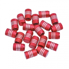 Aluminum Alloy Silver Around Tyre Valve Caps 20PCS