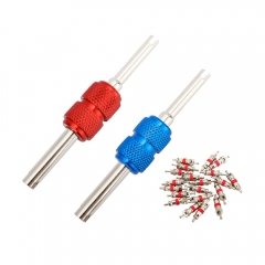 Red and Blue Valve Stem Core Remover Tool