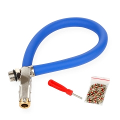 Tire Inflator Hose with Valve Core Remover
