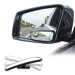 Rectangle 360°rotation + 20°sway Car Blind Spot Mirror