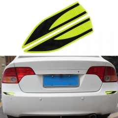 Night Driving Safety Leaf Blades Shape Car Reflective Sticker
