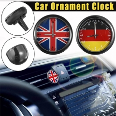 Car Luminous Quartz Clock British German Flag