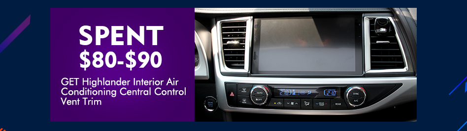 Highlander Air Conditioning Central Control Vent Trim