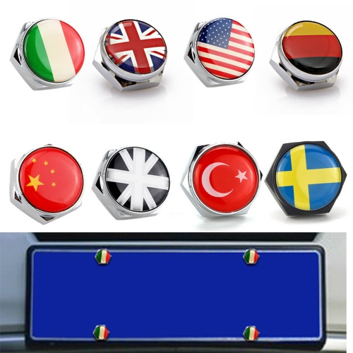 Flag Style Anti-theft License Plate Frame Bolts