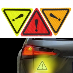 Triangle Warning Sign Reflective Stickers