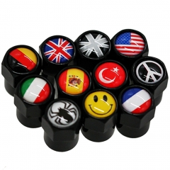 Country Flags Valve Stem Caps