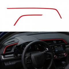 10th Gen Civic 2016-2020 Air Vent Trims Dash Board Panel Strips