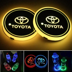 LED Car Logo Cup Holder Coaster
