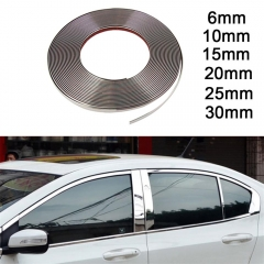 12M Self Adhesive Chrome Trim for Cars