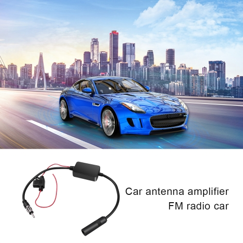 Universal Car Antenna Booster for AM and FM