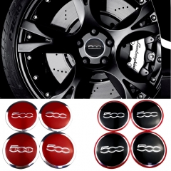 56mm Wheel Hub Cap Badge For FIAT Abarth 500 500L 500C Punto Ducato Bravo Stilo Siena Linea Panda