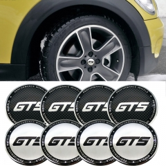 56mm Hub Caps Emblem GT S for Mercedes Benz AMG BMW F10 X5 Subaru Brz Honda Mini Cooper Corvette