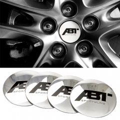 56mm ABT Logo Wheel Center Hub Caps Stickers For Volkswagen Tiguan Passat VW Polo 6 Golf 4 GTI Beetle Bora