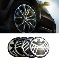 56mm BIOHAZARD Car Rim Center Hub Caps for Mercedes W205 BMW E90 SEAT Ibiza Chevrolet Mazda 3 Cadillac Nissan