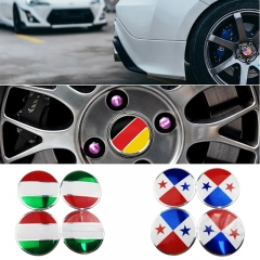 56mm China Flag Wheel Hub Stickers for Fiat 500 Volvo V70 Mercedes W205 Peugeot Volkswagen Jeep KIA Rim Center Caps Car-styling