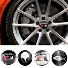 56mm Wheel Hub F1 Stickers for Toyota Rav4 Audi A4 Volkswagen Passat Abarth Opel Astra Skoda MG Evoque