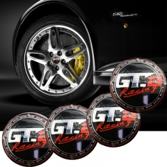 56mm Wheel Center Caps GT GT.2 Racing Hub Sticker for Honda Civic Ford Mercedes BMW 3 5 Skoda