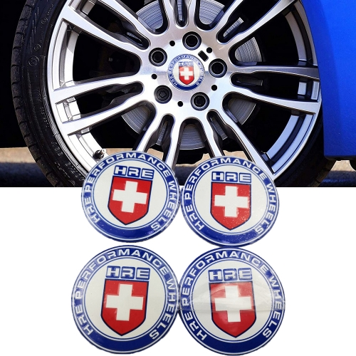 56mm HRE Logo Car Rim Center Hub Caps for Abarth Alfa Romeo Mitsubishi Seat Suzuki Smart Trumpchi