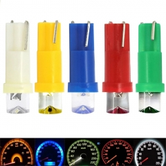 10x T5 LED W3W Concave Car Styling Wedge Dashboard Dash Gauge Light Lamp Bulb Base