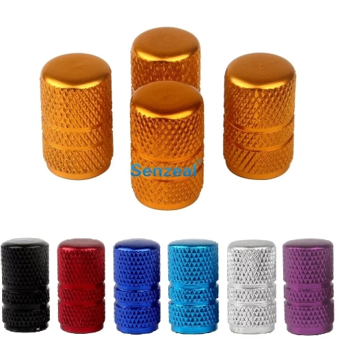 1Set Universal Aluminum Round Stripe Style Auto Car Tyre Air Valve Caps Motorcycle Bicycle Wheel Tire Valve Cap For Bike 7 Color